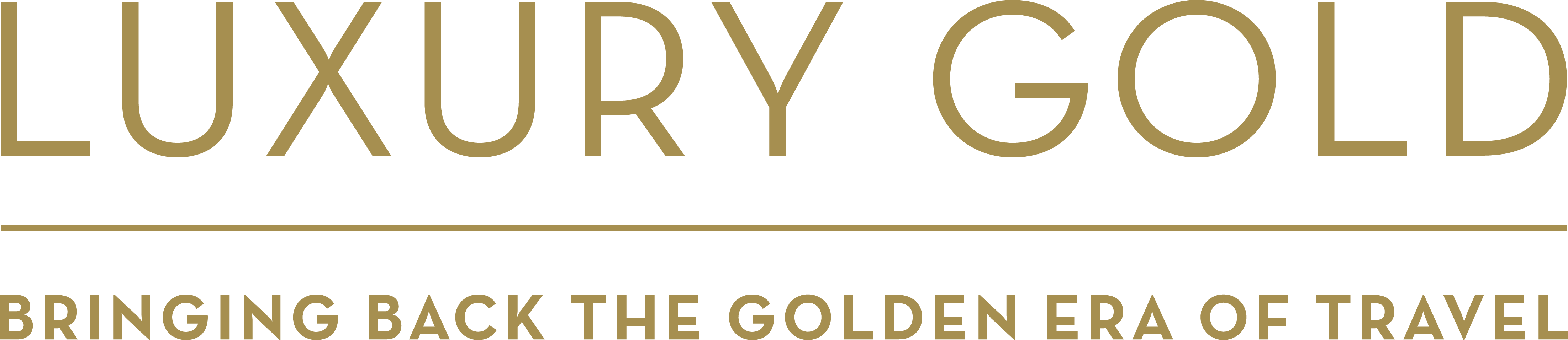 Gold text png. Luxury the travel corporation