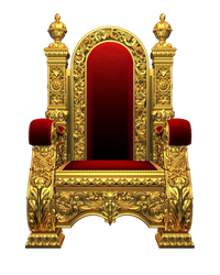 King throne png. On a transparent images