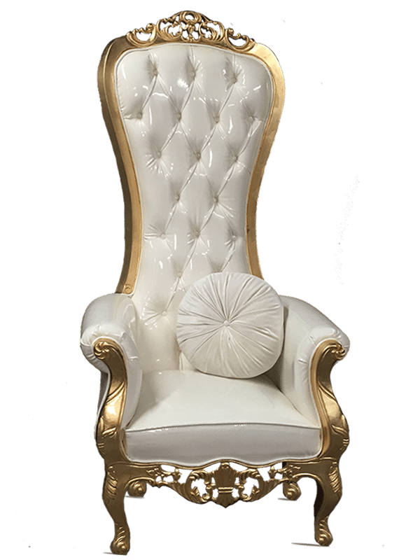Gold throne png. Luxe chair event rental
