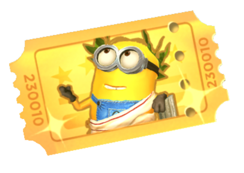 Gold ticket png