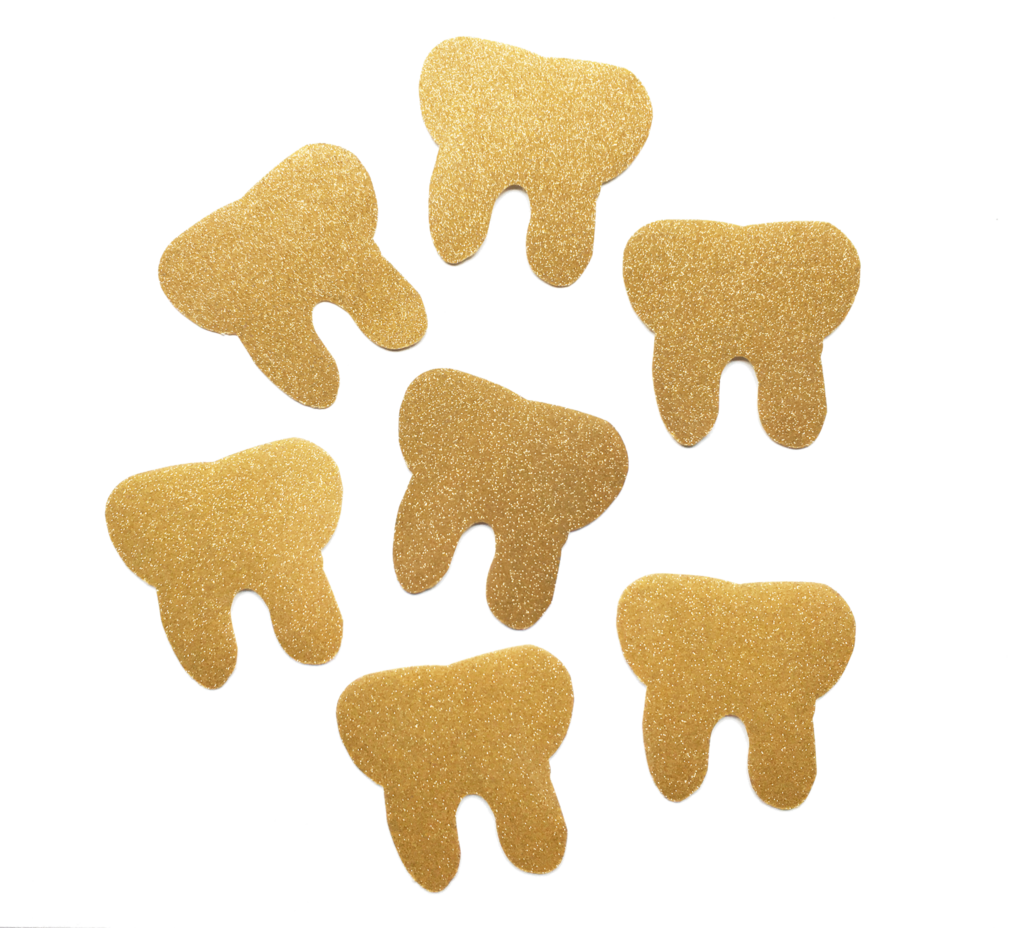 Teeth sparkle png. Vinyl gold tooth sticker
