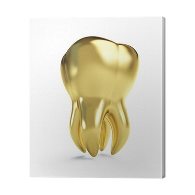 Gold tooth png. Canvas print pixers we