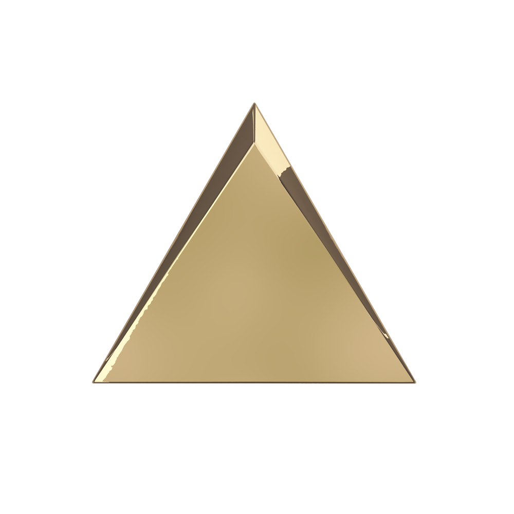 Triangle clip gold. Collections zyx space