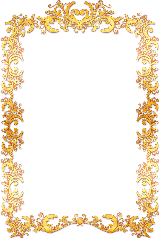 Gold vintage borders png. Beautiful free border images