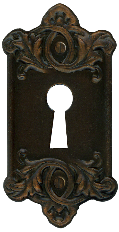 Gold vintage keys png. Retro door key plate