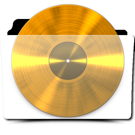 Gold vinyl record png. Translucent folder icon by