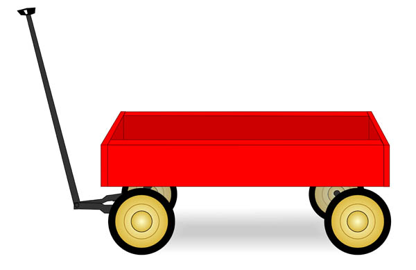 Red wagon. Free cliparts download clip