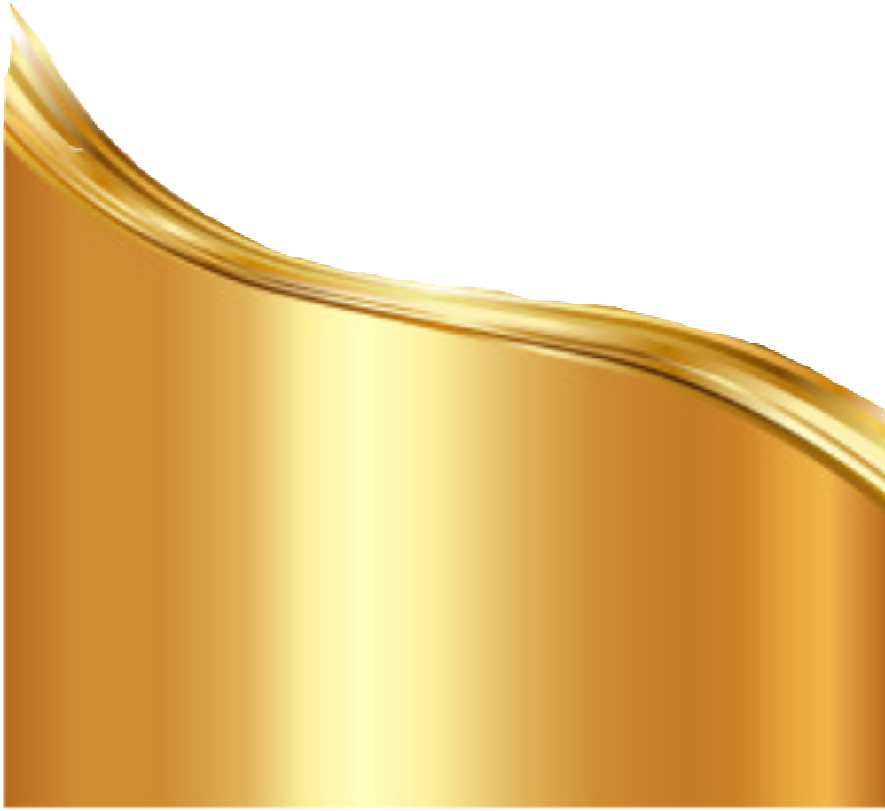 Gold wave png. Wrap design sticker by