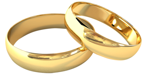 Gold wedding png. Couple ring free icons