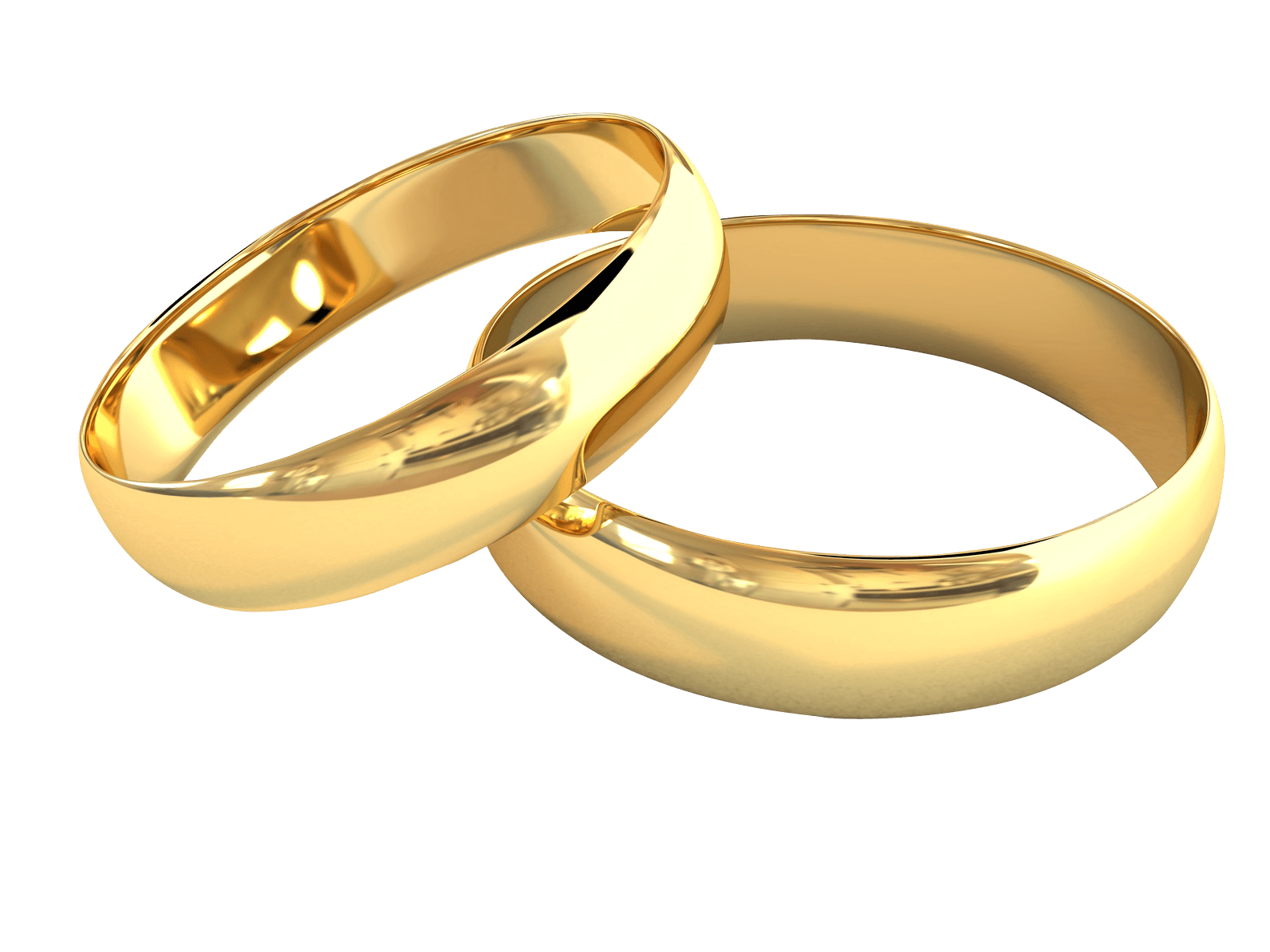 Gold wedding rings png. Pair of jewelry transparent