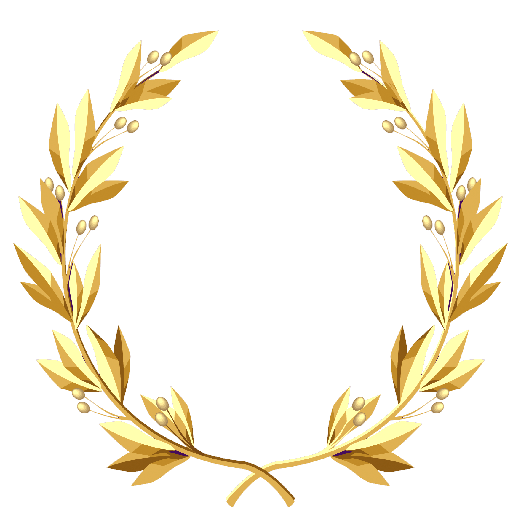 Gold wreath png. Transparent clipart picture gallery