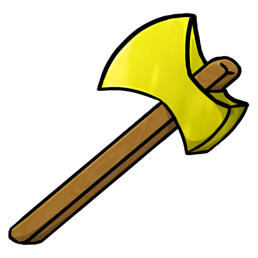 Golden axe png. Gold icon minecraft iconset