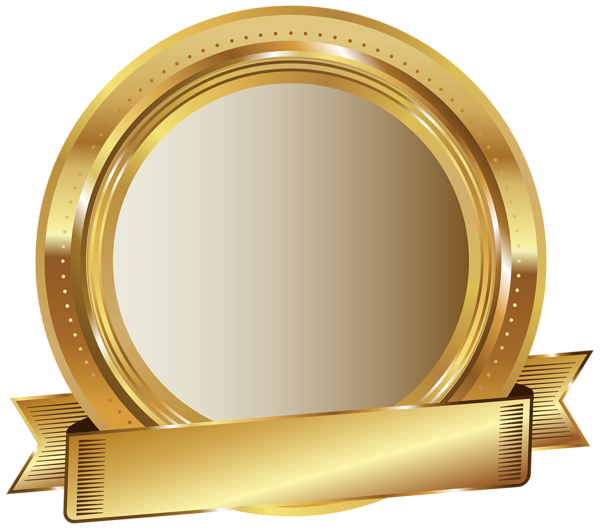 Golden badge png. Seal clip art image