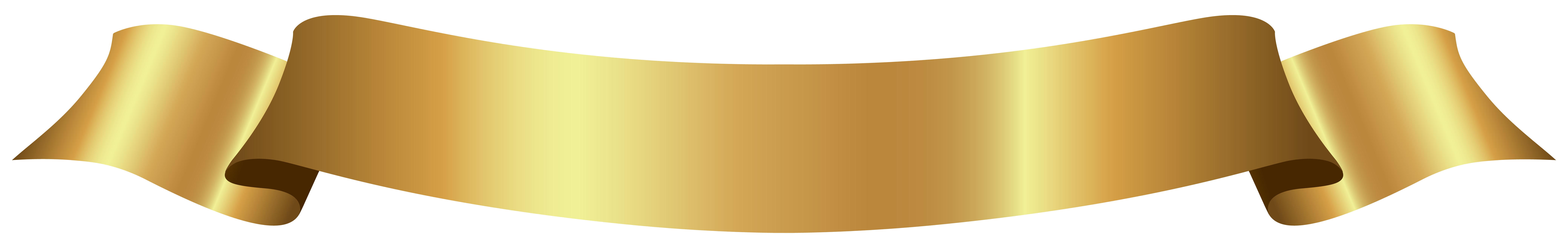 Gold ribbon banner png. Golden clipart image gallery