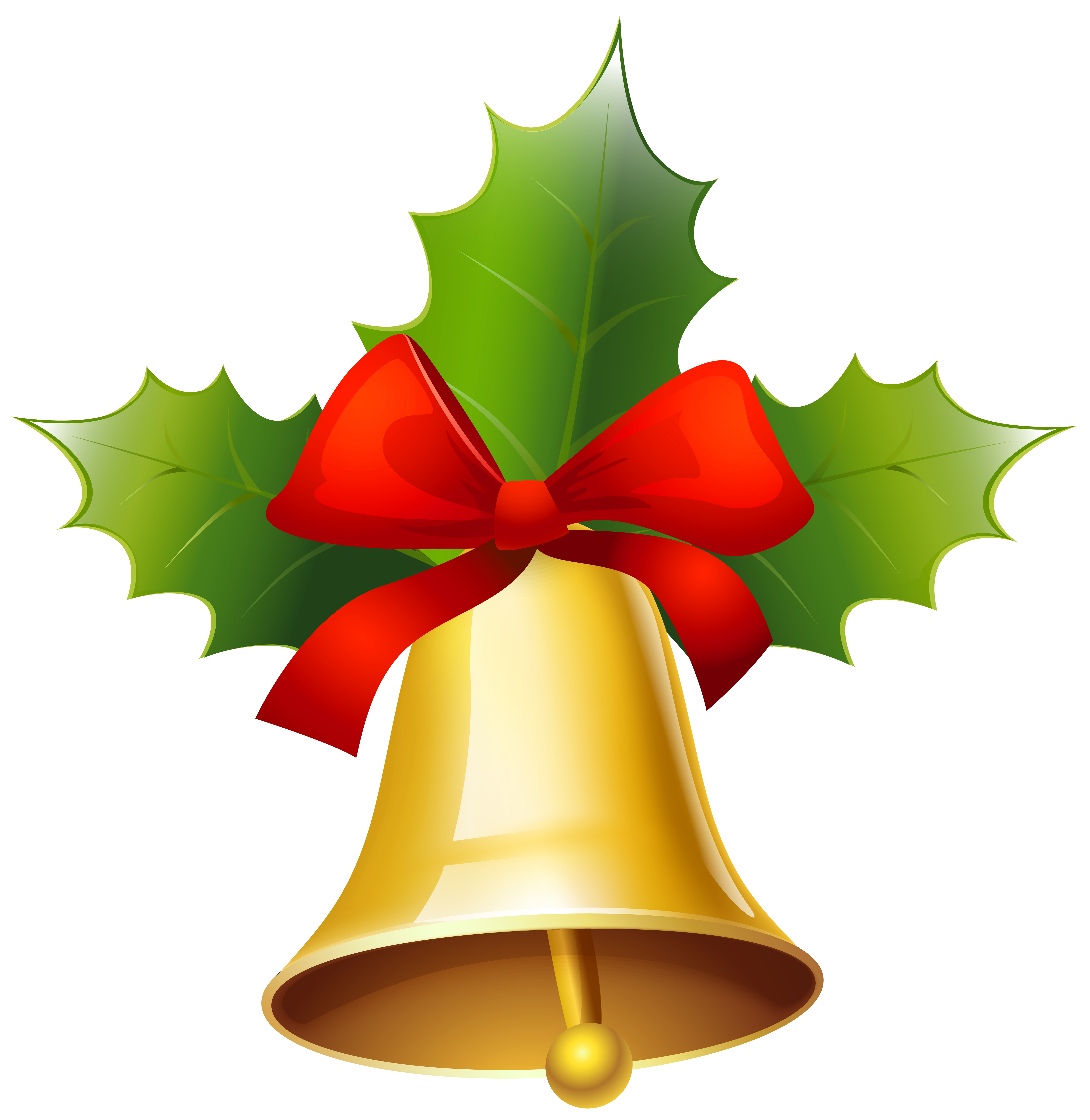 Golden bell png. Christmas clipart image gallery