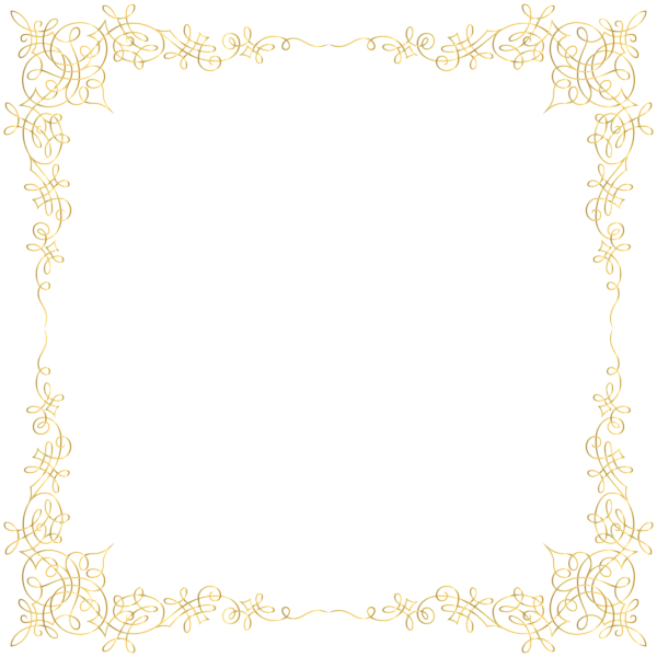 Golden border png. Transparent image gallery yopriceville