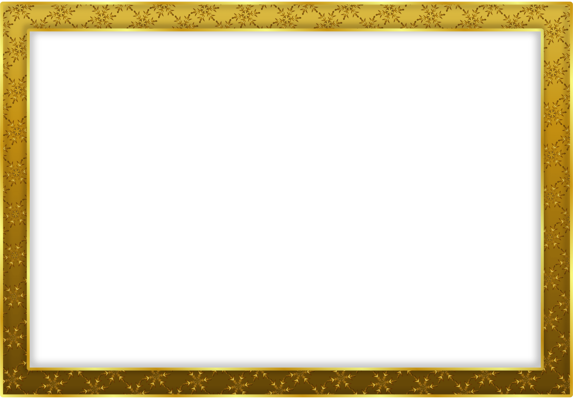 Simple frame png. Gold landscape transparent stickpng