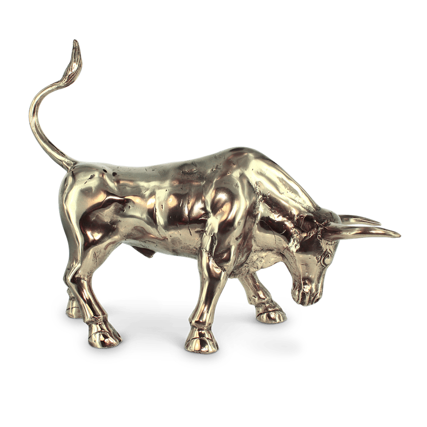 Golden bull statue png transparent. Brutus the small mr