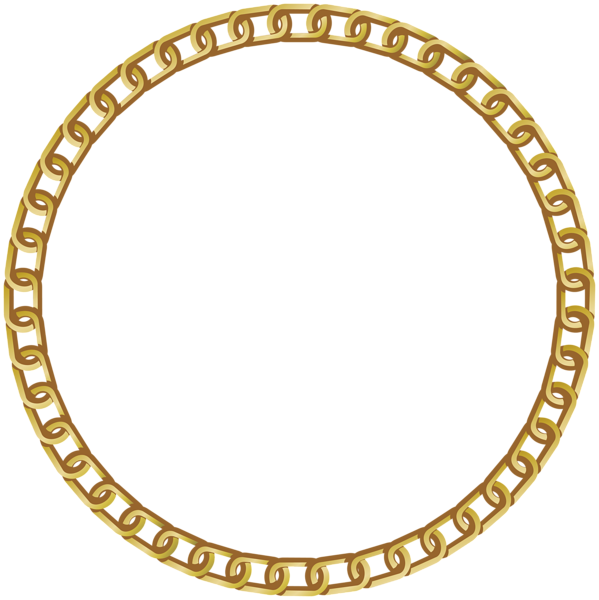 Golden circle png. Chain goldchain gold frame