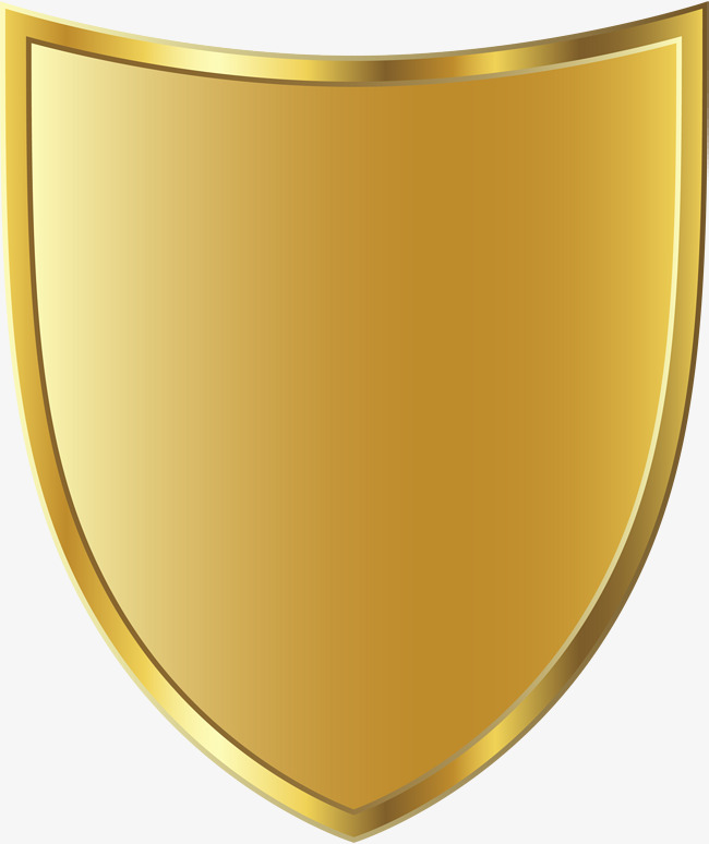 Golden clipart. Shield badge png image