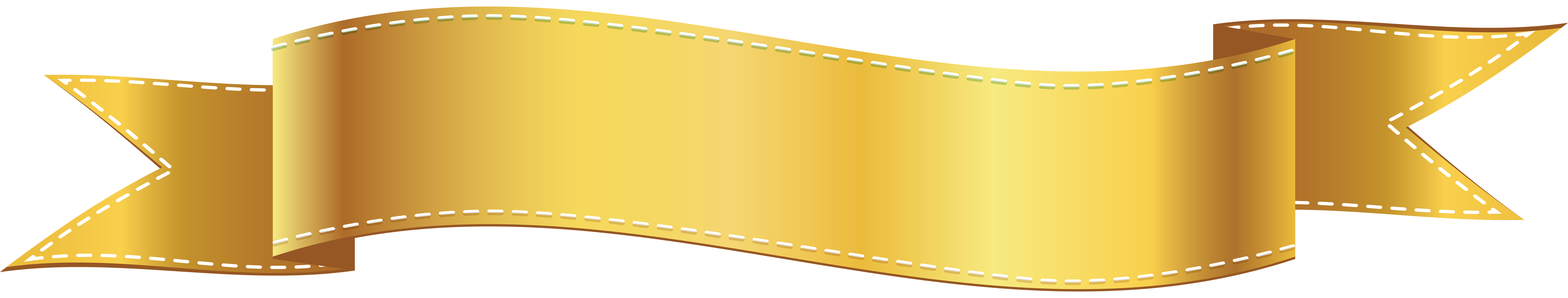 Gold banner ribbon png. Free golden cliparts download