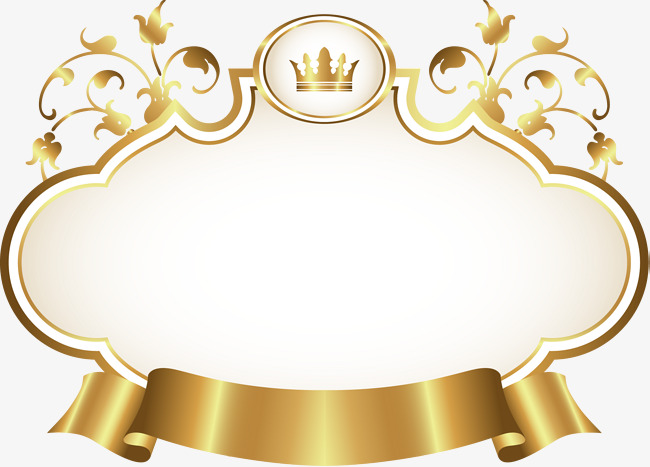 Ribbon luxurious an crown. Golden clipart png transparent stock