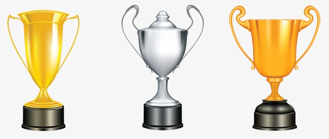 Golden clipart gold silver. Trophy cup png image