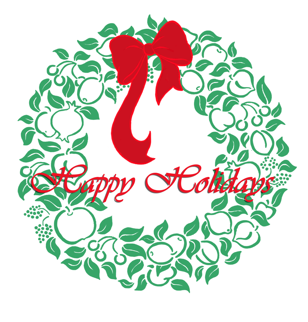 Happy holidays png cute. Christmas clip art wreath