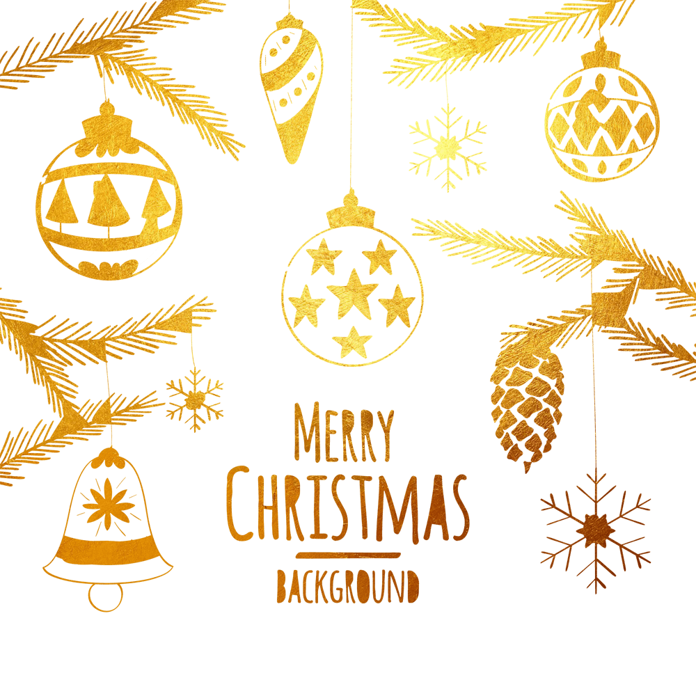 Golden clipart happy holiday. Christmas background png images