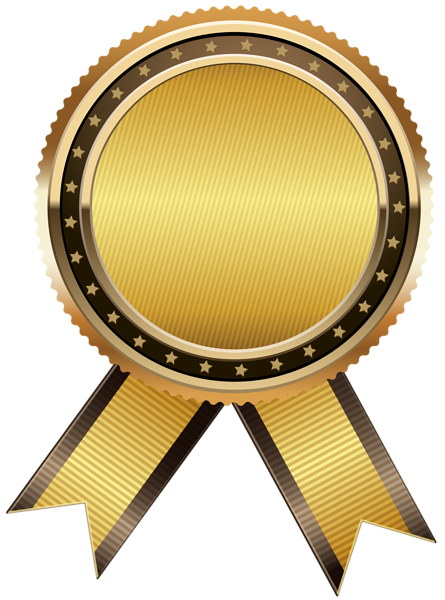 Golden clipart pita. Gold seal free png