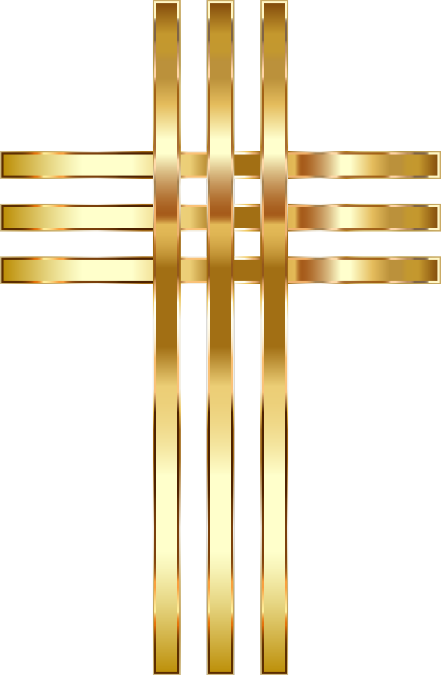 3% png golden. Stylized cross no background