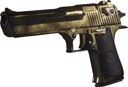 Golden desert eagle png. Image gold mwr call
