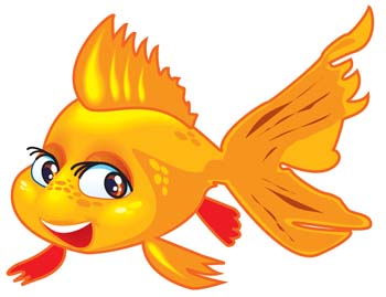 Golden fish. Gold clipart graphic free