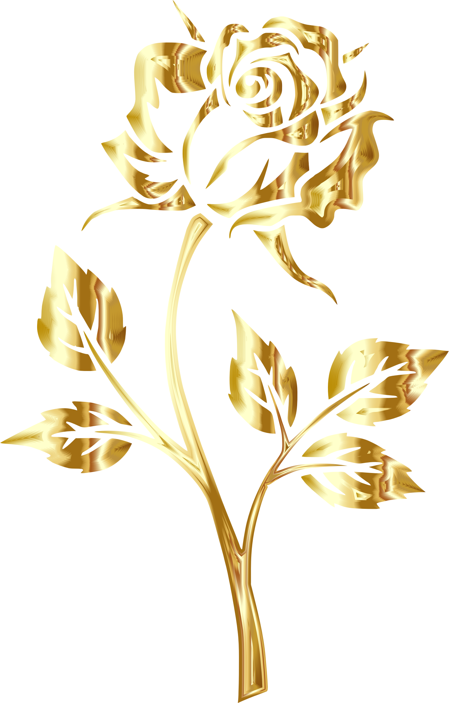 Gold rose png. Image golden no background
