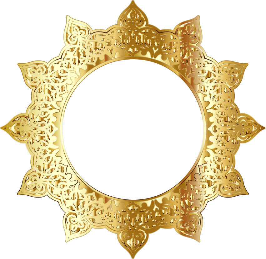 Golden frame png. Round free images toppng