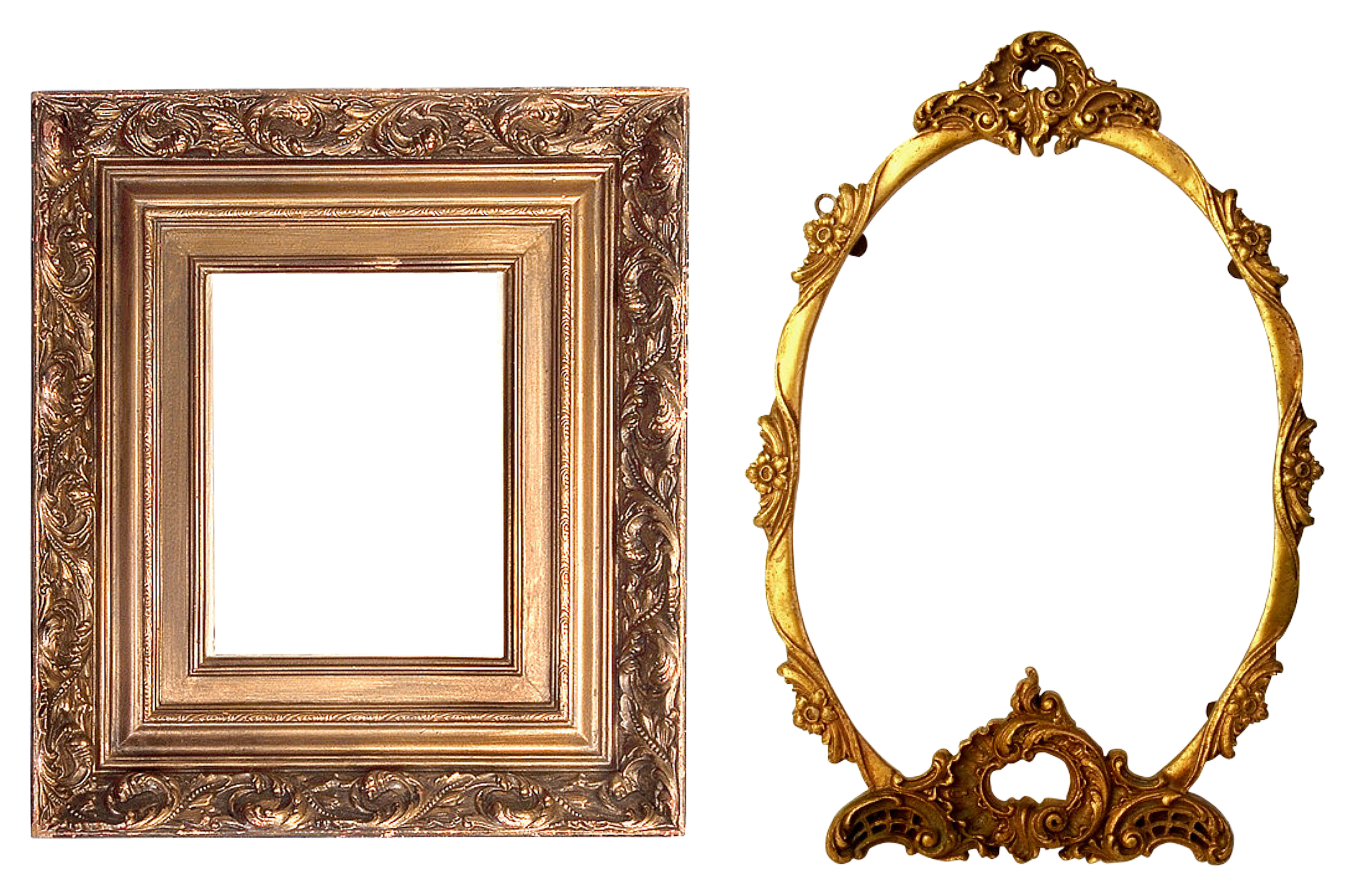 Golden frame png. Free photo round texture