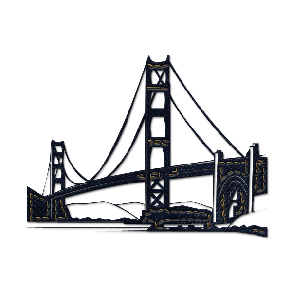 Golden gate bridge cartoon png. Collection of clipart