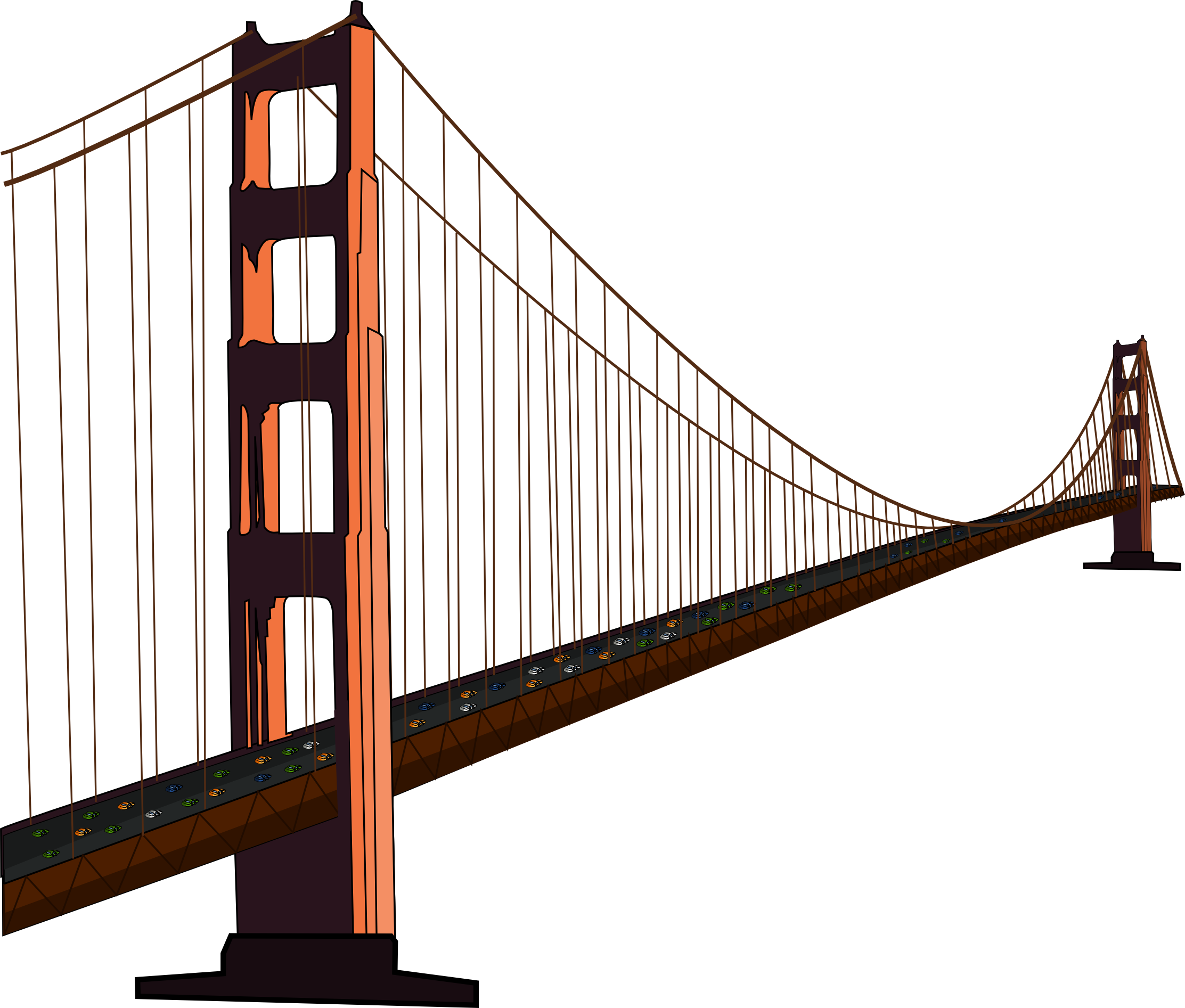 Golden gate bridge icon png