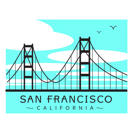 Vector bridges bridge california. Golden gate logo transparent