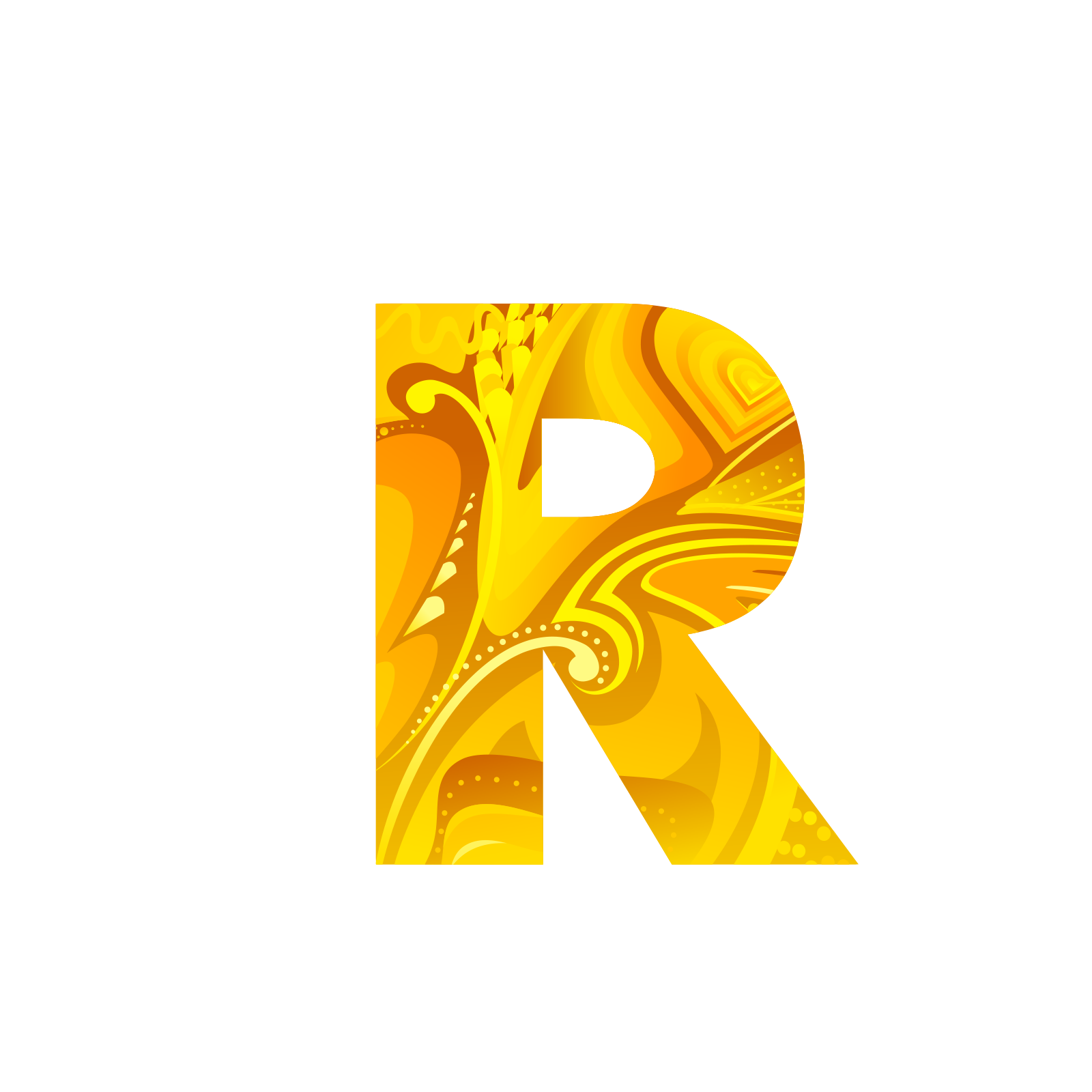 Golden letters png. Letter computer file the