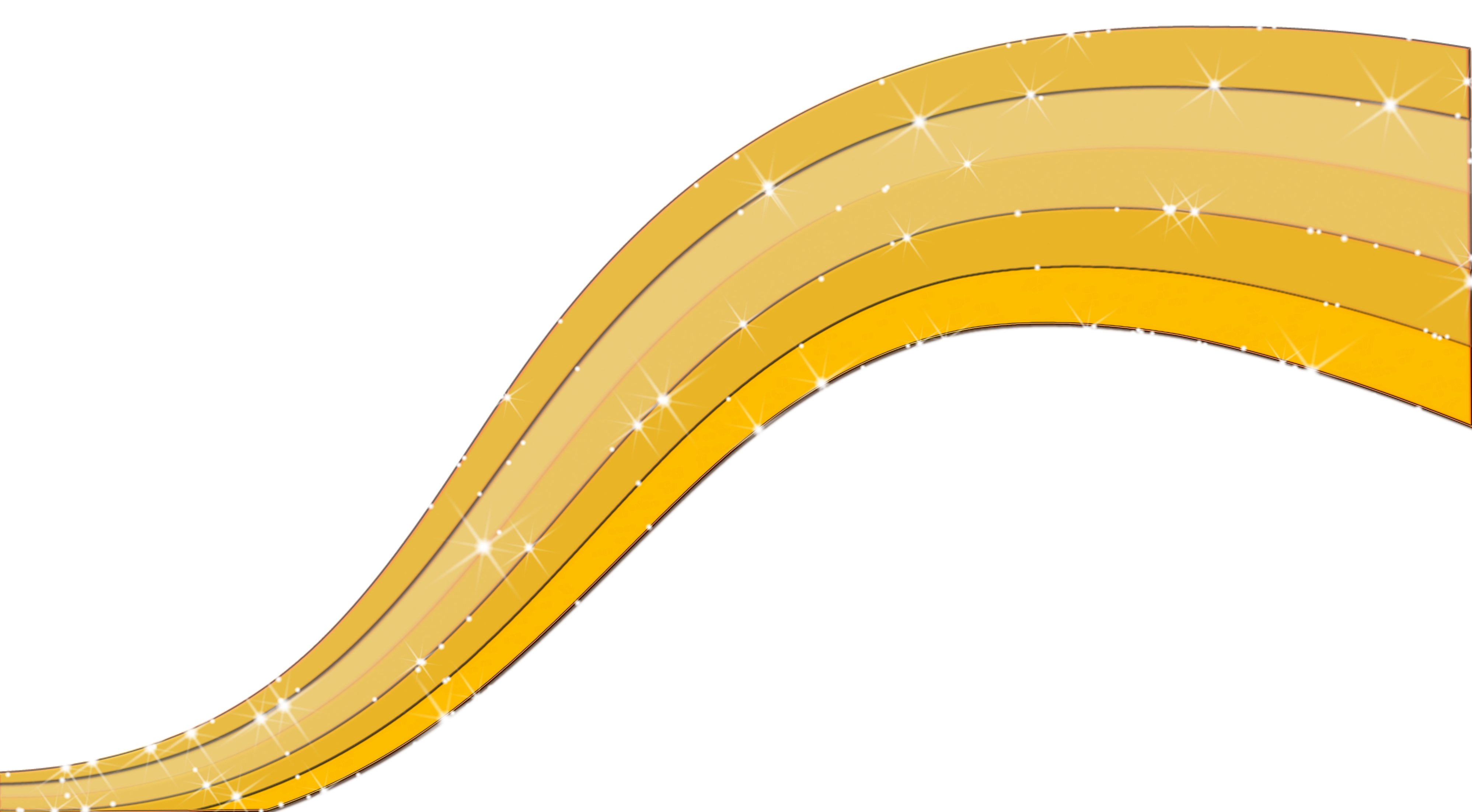 Golden line png. Abstract lines transparent image