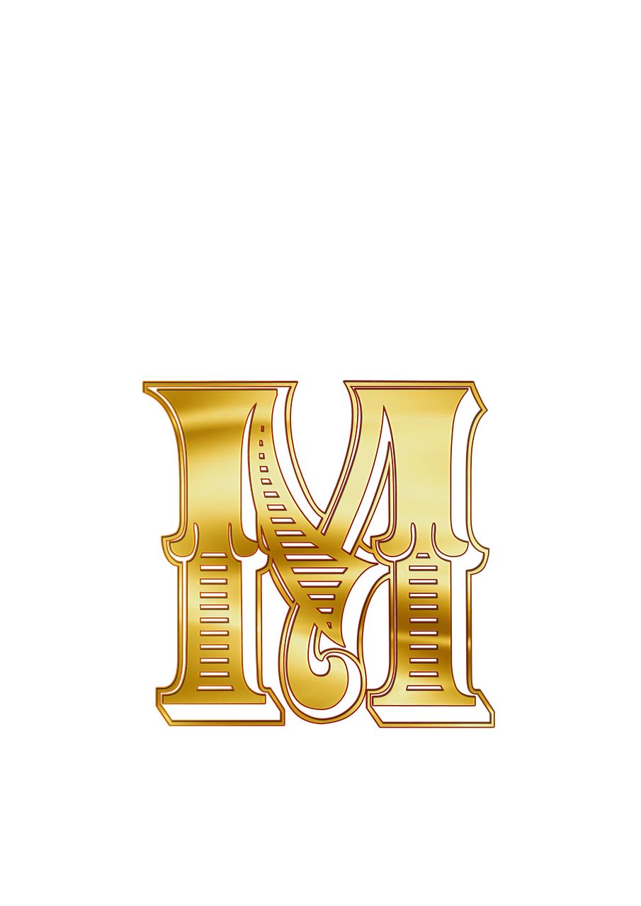Golden m png. Cyrillic small letter photos