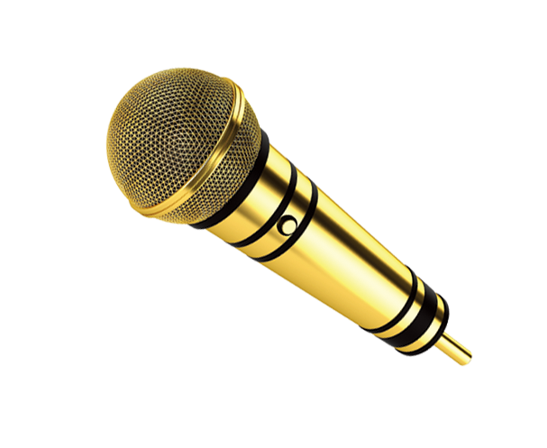 Golden microphone png. Icon transprent free download