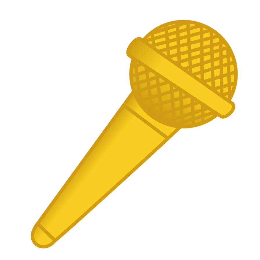 Golden microphone png. Cutiemark mic by viexy