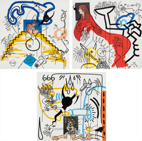 Golden misericorde. Keith haring apocalypse and