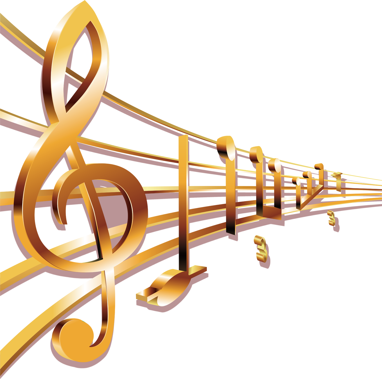 Golden music note png. Musical sheet transprent free