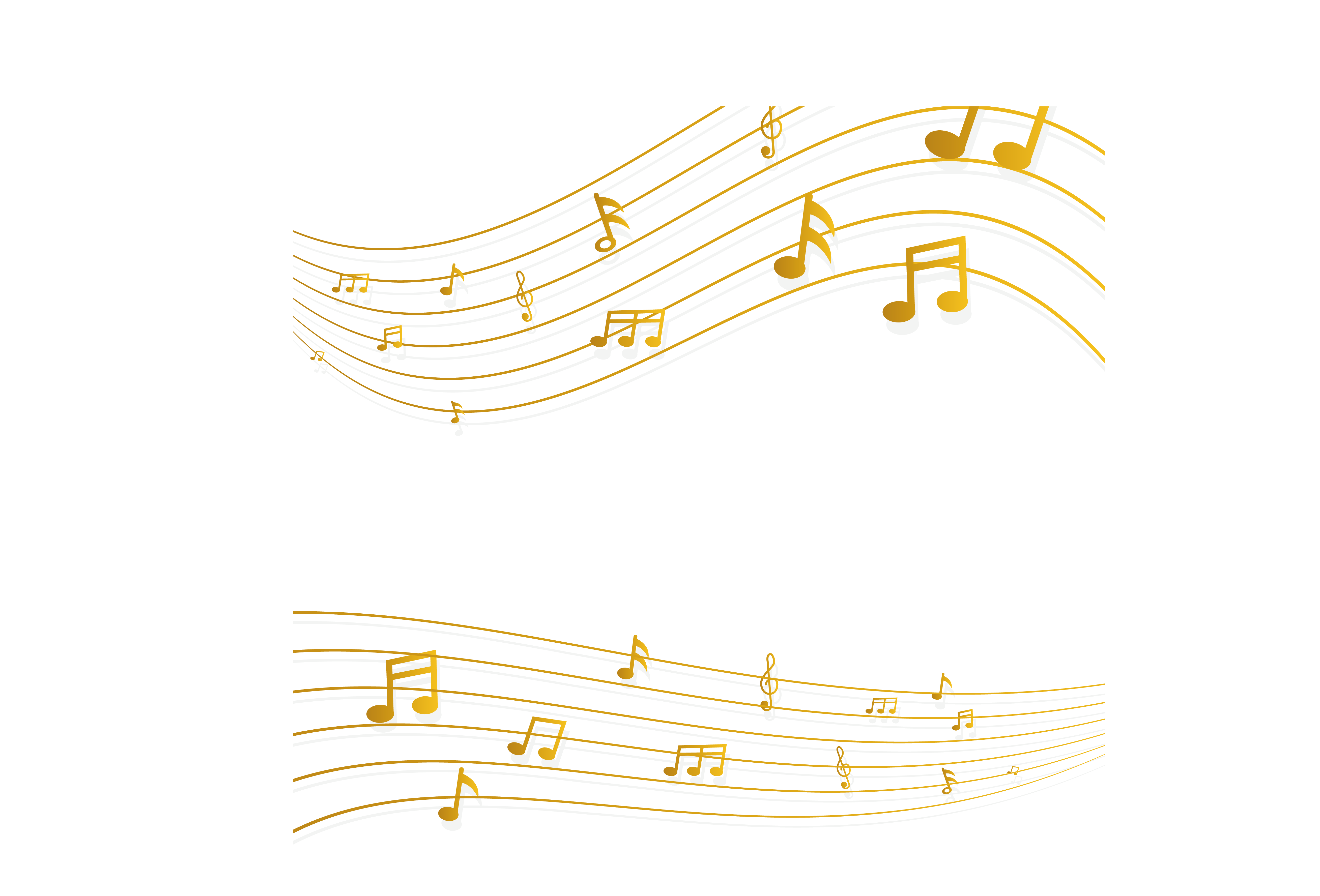 Golden music note png. Structure yellow pattern melodious
