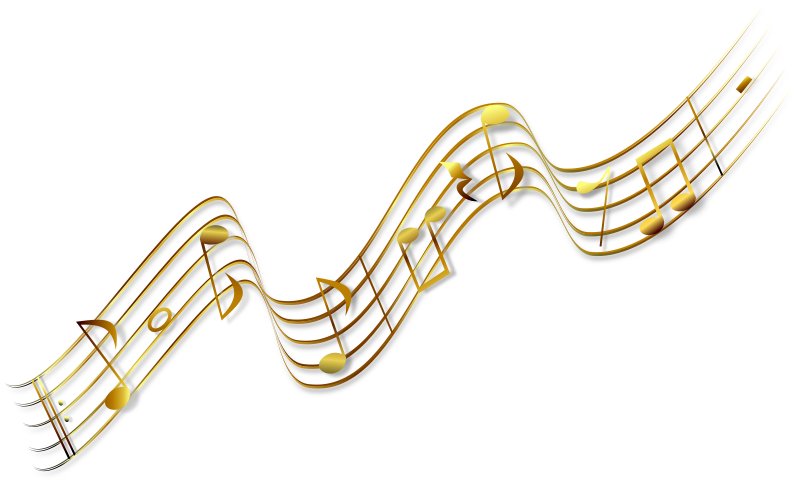 Golden music note png. Musical notes transparent images