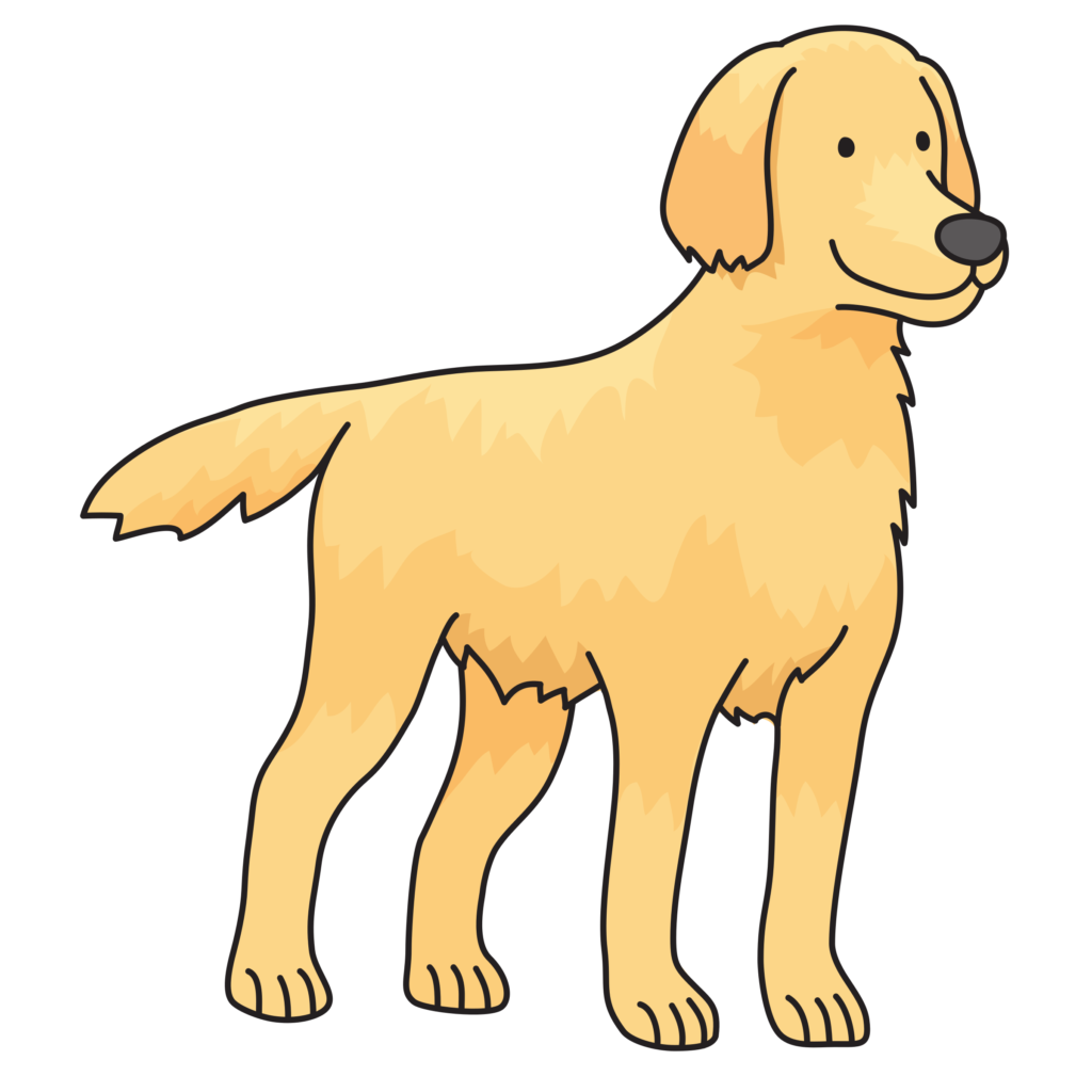 Golden retriever clipart orange dog. Publicdomainq of typegoodies me