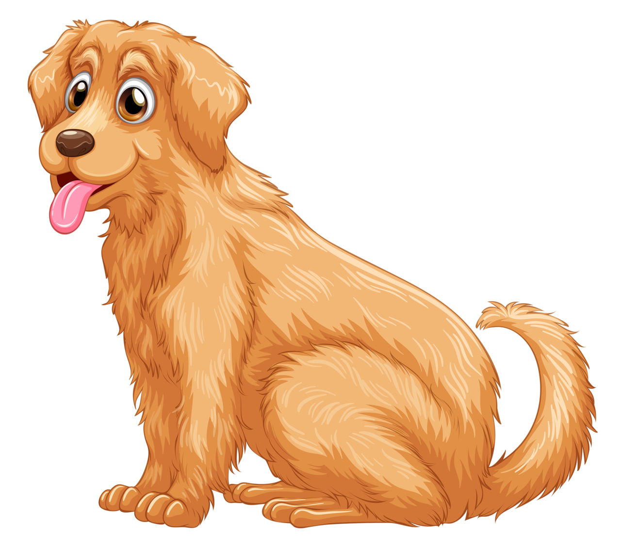 Golden retriever clipart orange dog. Png dogs cats